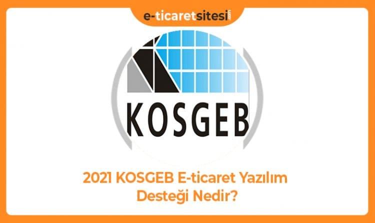 2021 KOSGEB E-ticaret Yazılım Desteği Nedir?