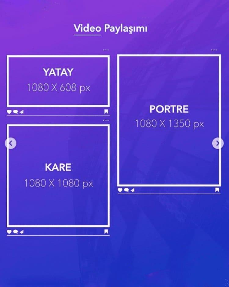 İnstagram video boyutu 2021
