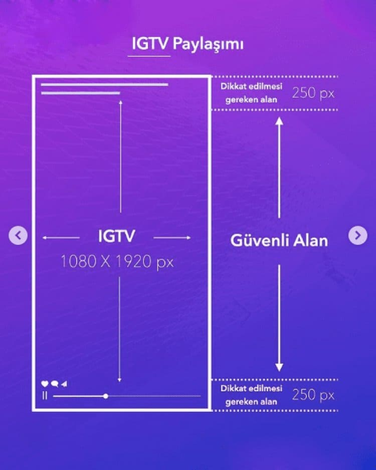 İnstagram İGTV Paylaşım boyutu 2021