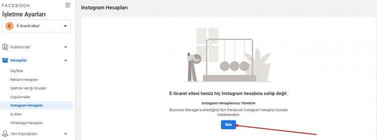 instagram hesabı ekleme