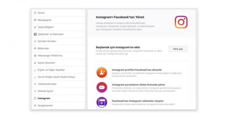Facebook Sayfası ve Instagram Entegrasyonu