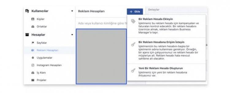 Facebook Reklam hesabı oluşturma