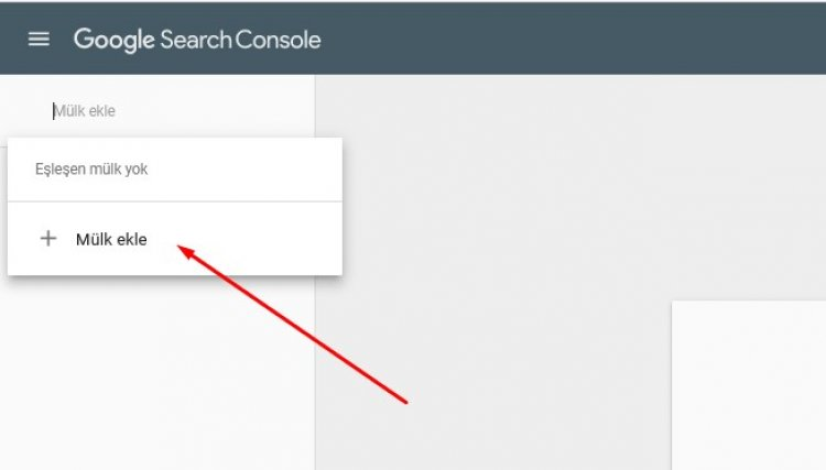 google search consele mülk ekle